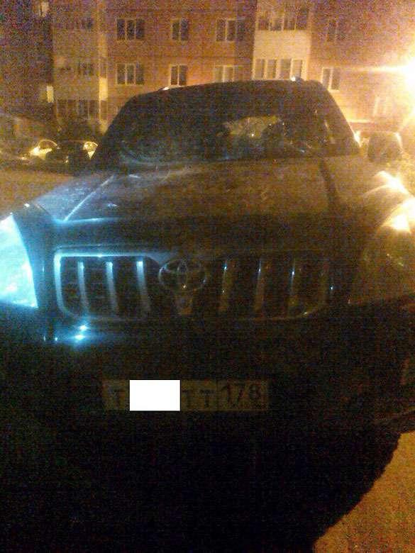 Во Всеволожске владельцу Toyota жестоко отомстили за парковку на газоне