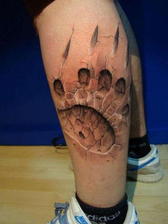 Впечатляющие 3D-татуировки