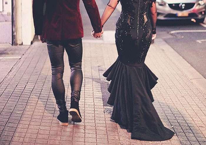 Блогер из Австралии в нарушение вековых традиций вышла замуж в черном платье (13 фото)