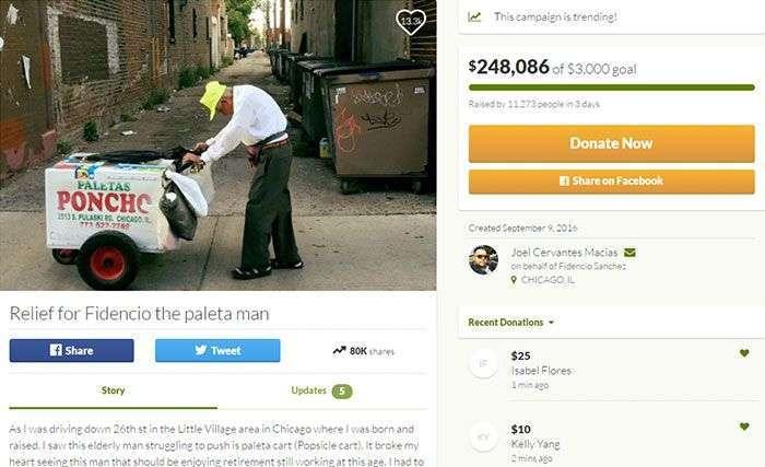 Пользователи сети собрали для бедного пенсионера деньги на достойную старость