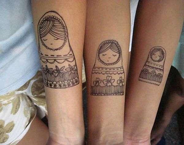 Татуировки для парочек (12 фото)