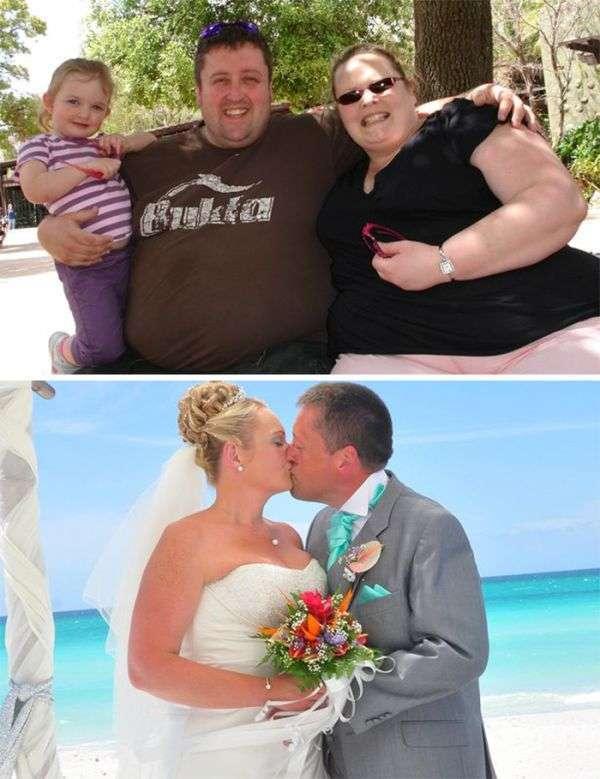 Пары, которые худели вместе (28 фото)