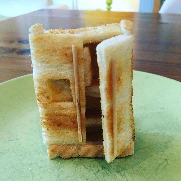 Папа создаёт умопомрачительные скульптуры из тостов для своей дочери с пищевой аллергией (19 фото)