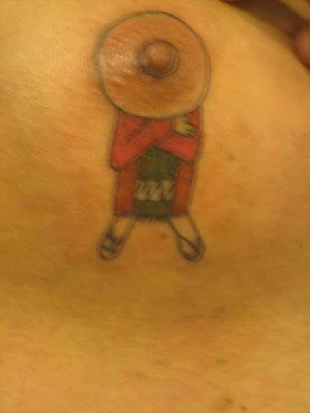 Самые творческие и нелепые татуировки, сделанные на сосках (12 фото)