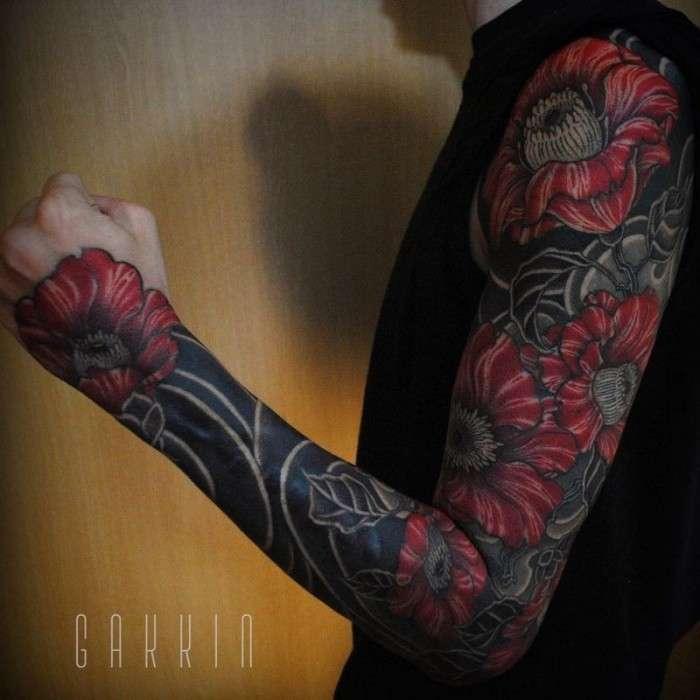 Костюмы из чернил от японского татуировщика (19 фото)