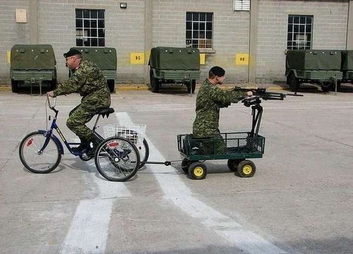 Военные тоже умеют шутить