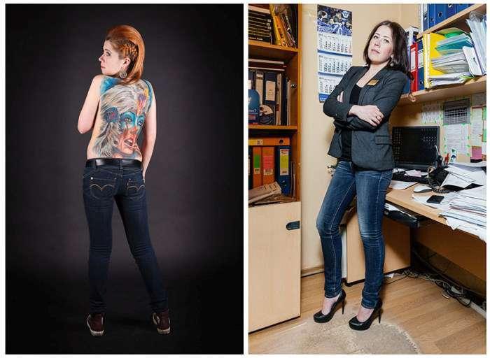 Российские любители татуировок (14 фото)