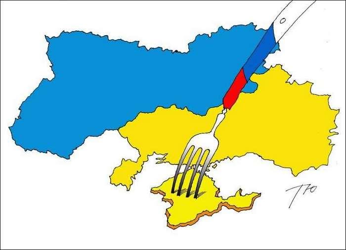 Карикатуры про Крым и не только (16 фото)