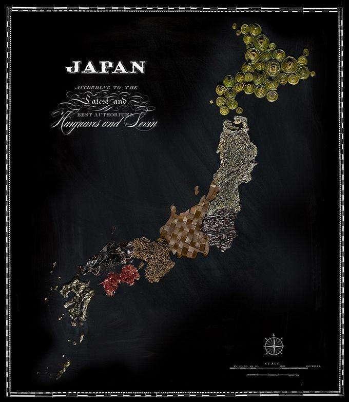 Вкусные карты разных стран (11 фото)