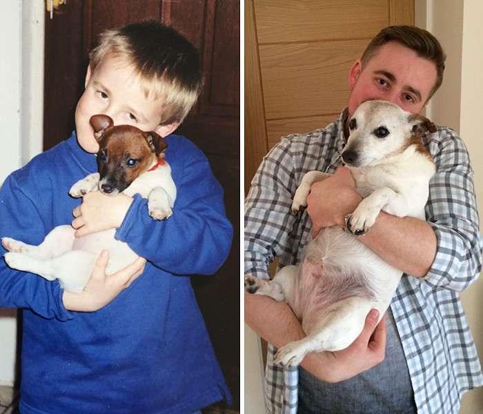До и после: фотографии собак и хозяев (40 фото)