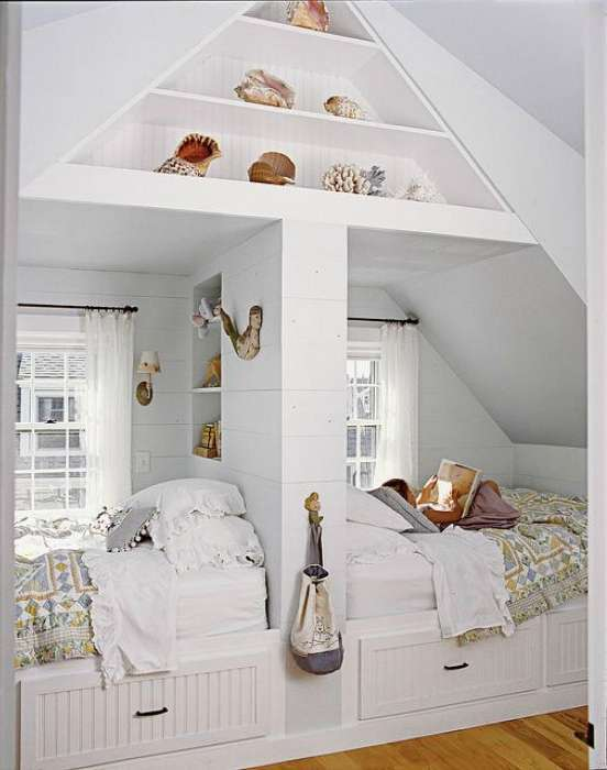 17 очаровательных встроенных кроватей для взрослых, детей и подростков