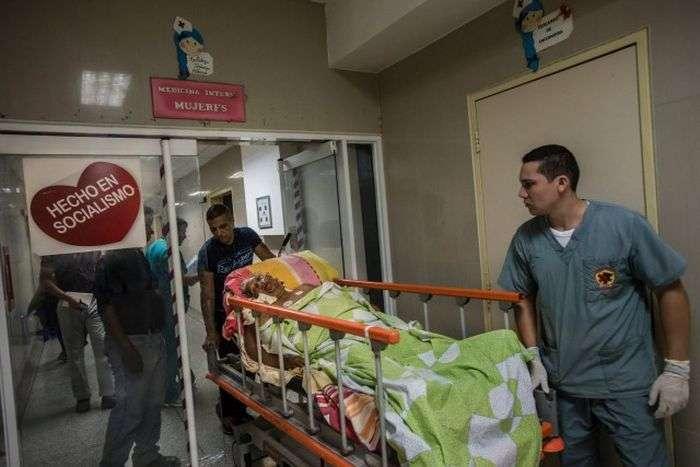 Больницы Венесуэлы - страны согромными запасами нефти (7 фото)