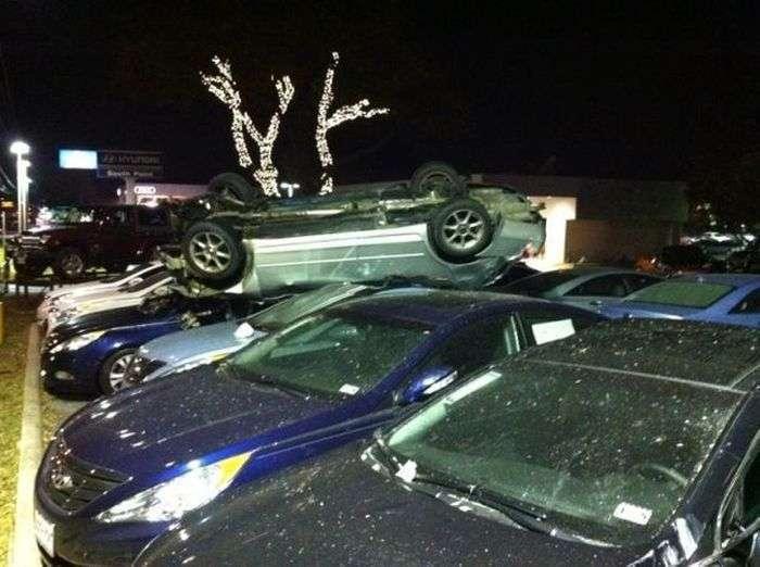 Американец повредил 18 новых Hyundai на $700 тысяч (11 фото)