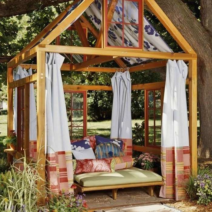 17 оригинальных примеров дизайна садовых беседок, которые можно построить на своем дачном участке уже следующей весной