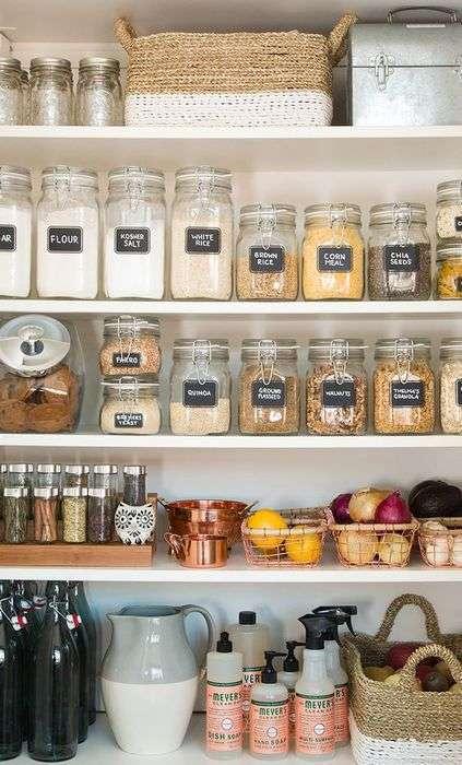 10 оригинальных и практичных идей правильного хранения на кухне