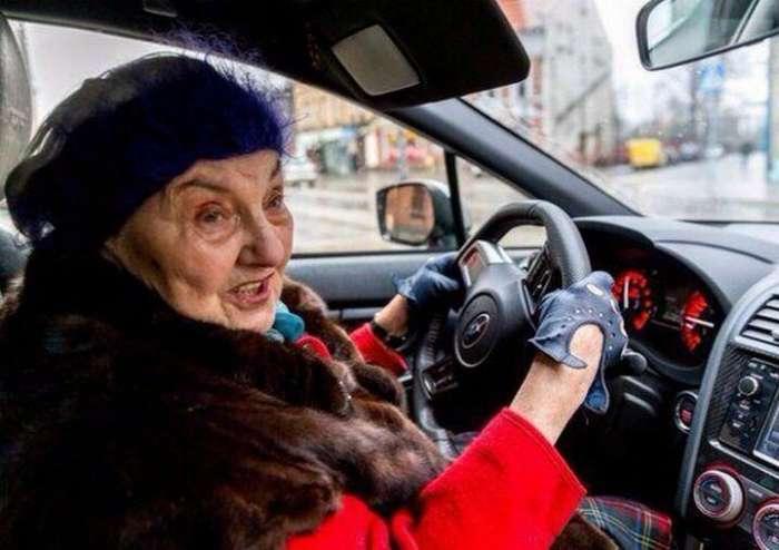17 забавных снимков о прекрасных дамах за рулем