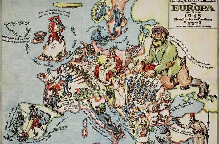 История в сатирических картах