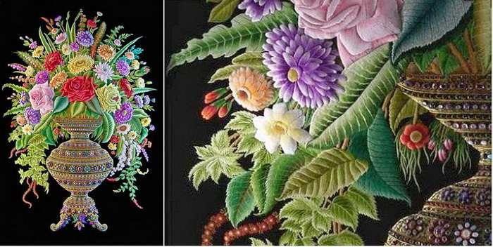 Древнейшая техника объемной вышивки: уникальные работы, каждая из которых весит более 200 килограммов