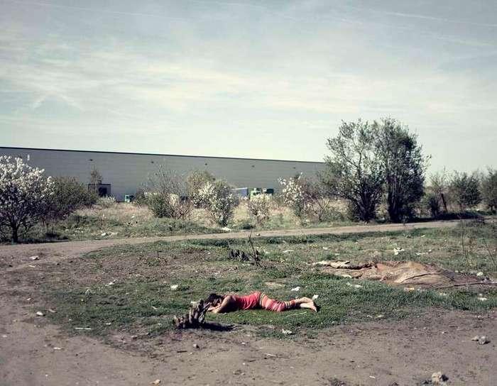 Быт румынских цыган на польской границе