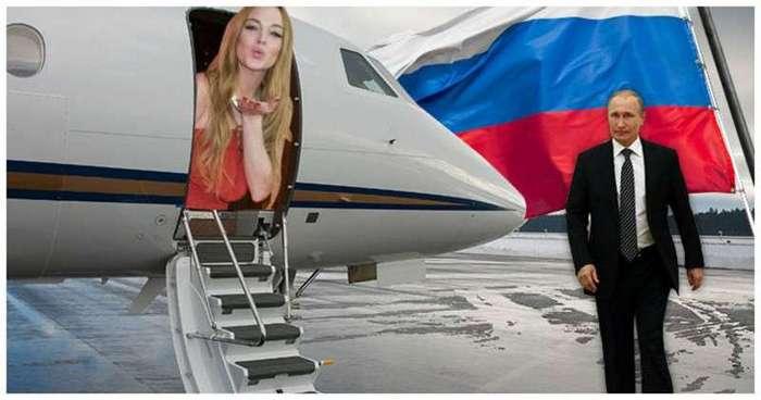 Линдси Лохан потребовала 42 миллиона и встречу с Путиным за участие в