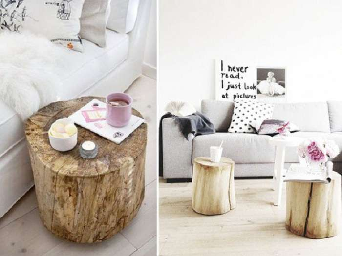 30 идей для оформления декора стволами деревьев