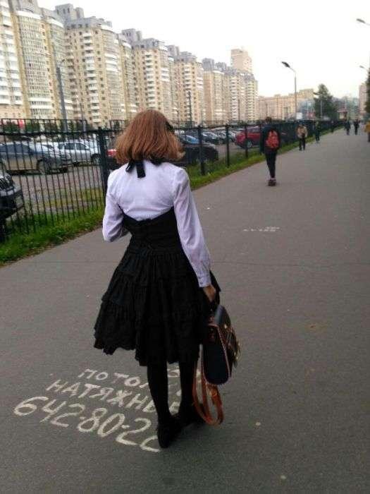 Странная мода на улицах Санкт-Петербурга (50 фото)