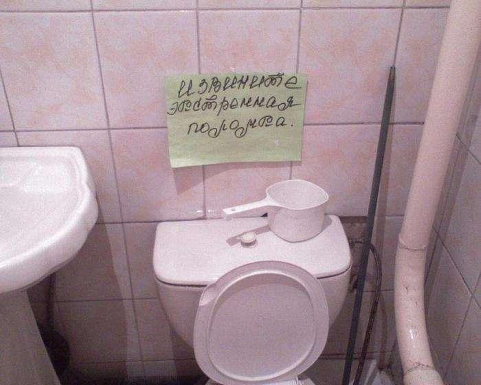 С приветом из туалета (45 фото)