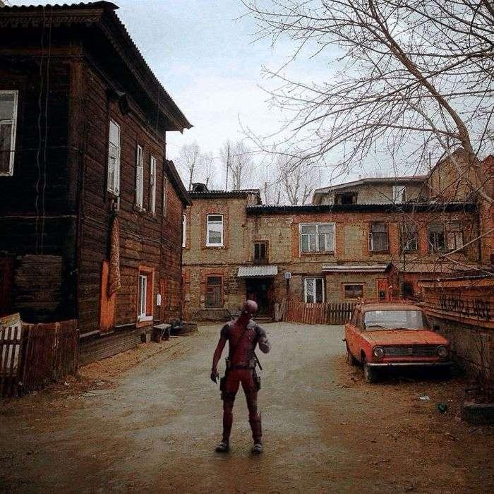 Если бы известные фильмы снимали в соседнем дворе (26 фото)