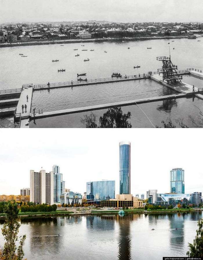 Екатеринбург. Тогда и сейчас (29 фото)