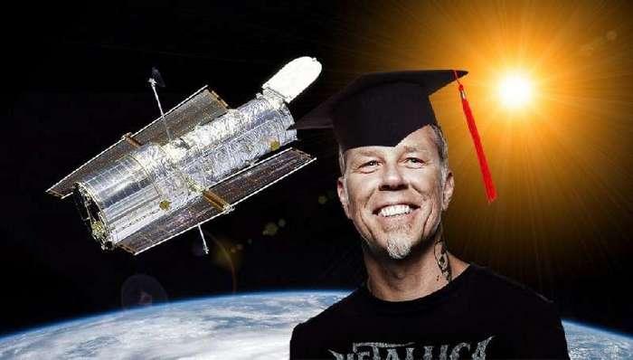 Гитарист Metallica Джеймс Хэтфилд получил докторскую степень по астрофизике