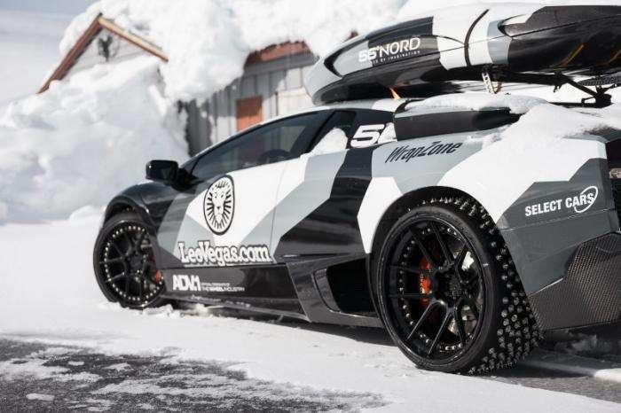 Джон Олcсон покорил норвежскую гору на Lamborghini Murcielago (6 фото)
