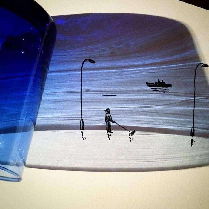 Художник превращает тени от обычных объектов в забавные иллюстрации