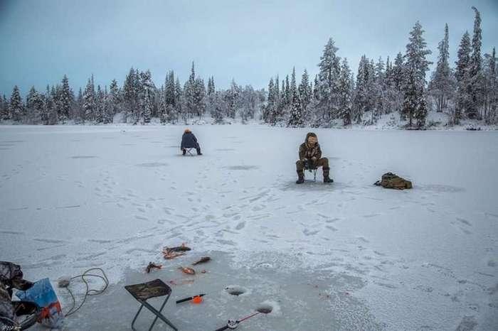 Зимняя северная рыбалка