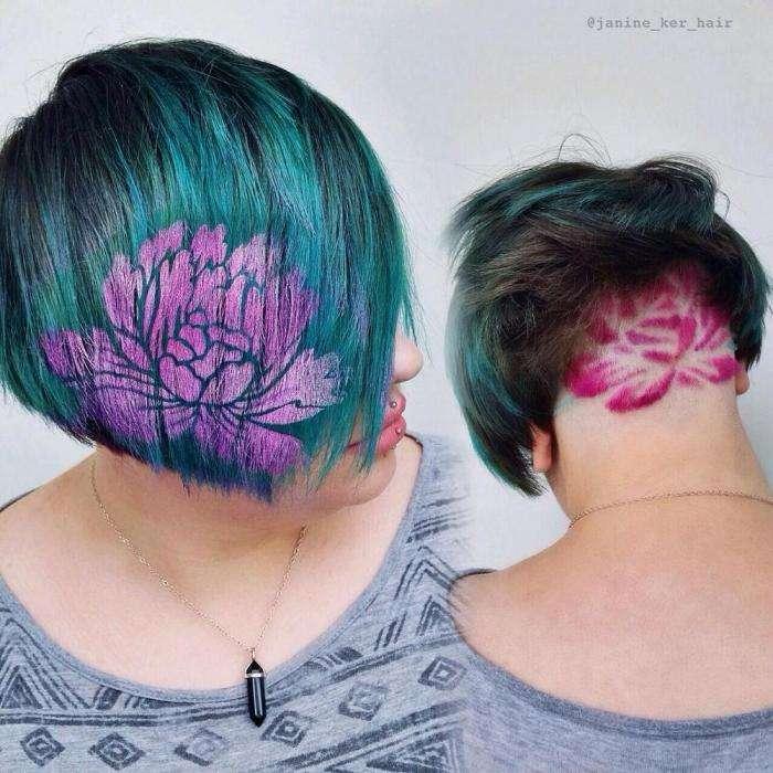 Новый модный тренд Instagram: #hairstencil (13 фото)