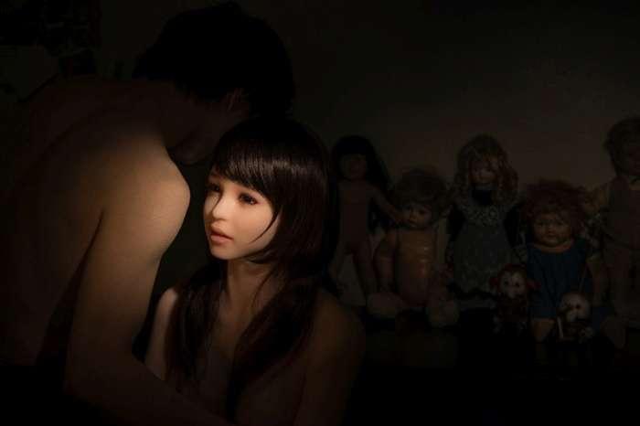 Корейский фотограф снимает свою жизнь с cиликoнoвoй куклой (9 фото)