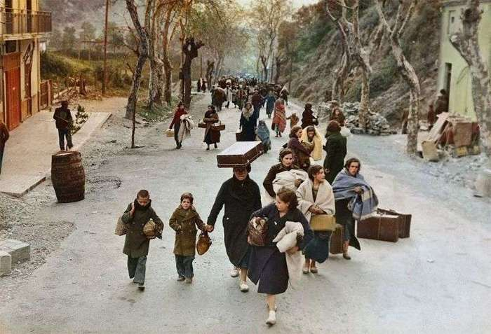 Во времена Второй мировой войны беженцы бежали из Европы в Сирию, Египет и Палестину