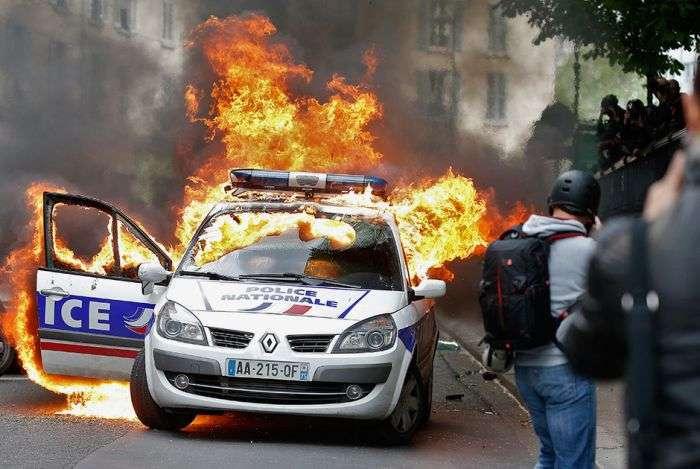 Как французы протестуют против трудовой реформы