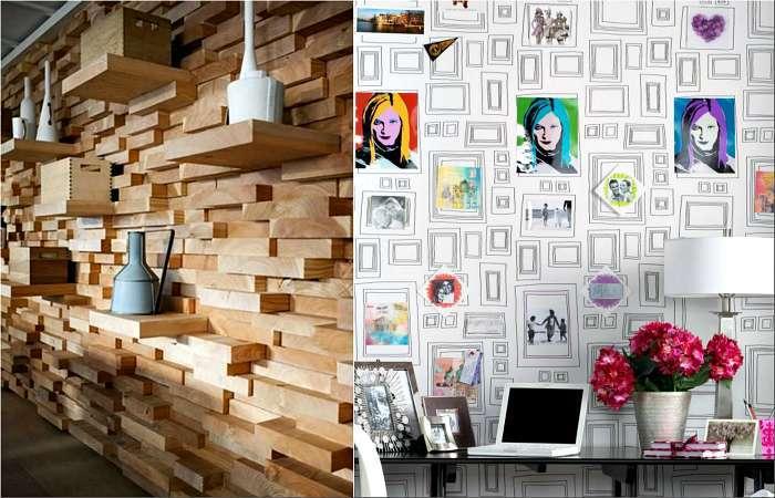 17 примеров оригинальной и эффектной отделки стен