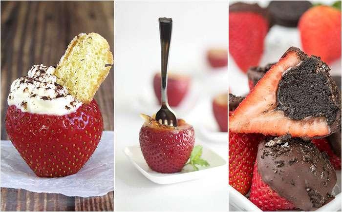 Фаршированная клубника – 10 десертов, от которых не в силах отказаться