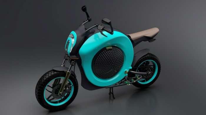 Изящный электробайк Grasshopper Concept Bike (4 фото)