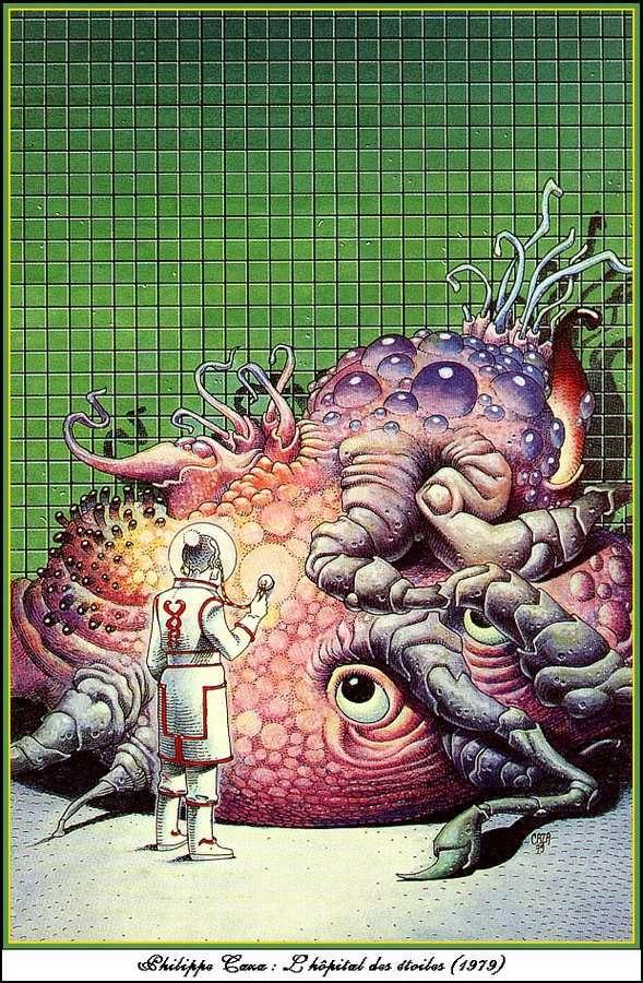 Фантастическая графика докомпьютерных времён (125 пикч)
