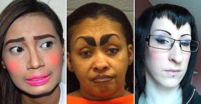 Примеры того, как не следует делать макияж (17 фото)