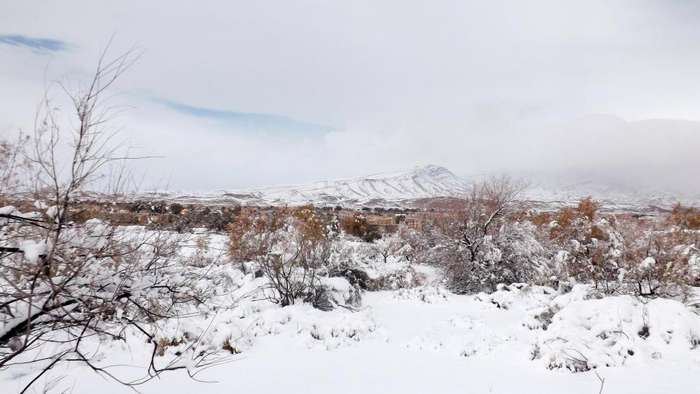 Снегопад в пустыне Сахара