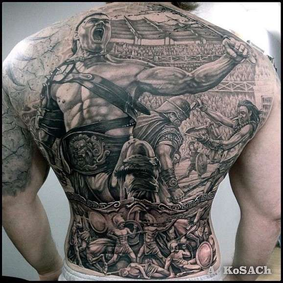 Шедевры тату для брутальных мачо