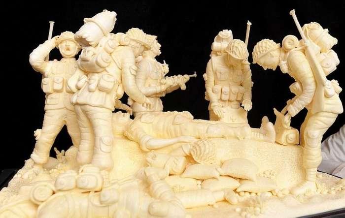 Поражающие воображение скульптуры из сливочного масла