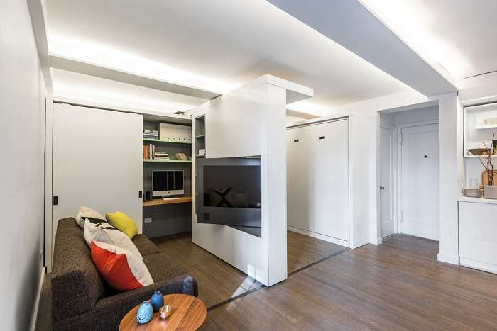 Квартира-траснформер: как на 36 кв. метрах разместилось 5 комнат