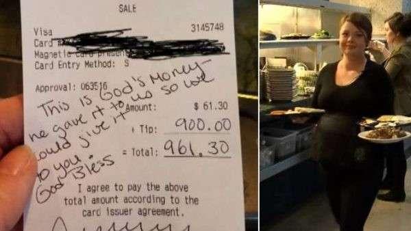 Посетительница кафе оставила беременной официантке $900 чаевых в самый трудный период жизни