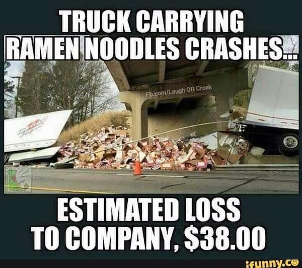Самое необычное содержимое перевернувшихся грузовиков