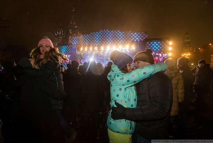 Как встречали Новый год на Красной площади