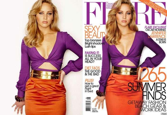 Как создаются нереальные стандарты красоты: знаменитости до и после фотошопа